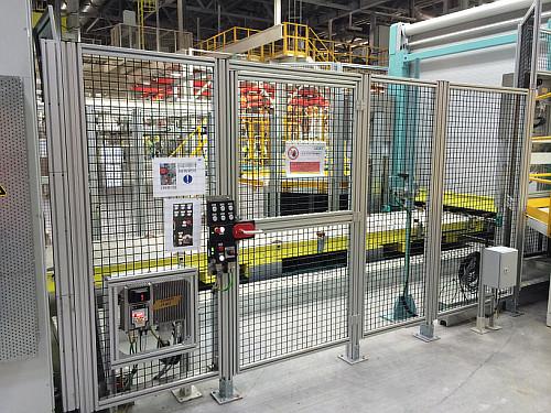 The Finished Product Aluminum Fence System Machine